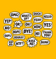 set of comic speech bubbles chat communication vector image