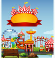 sign template with funpark in background vector image vector image