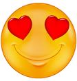 Smiley in love vector image