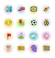 Soccer Icons set comics style vector image vector image
