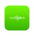 sound wave icon digital green vector image vector image
