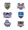 tennis logo badge vector image