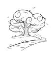 tree road vector image