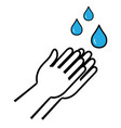 washing hands with soap sign isolated vector image vector image