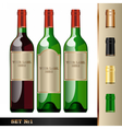 wine bottles mockup your label here vector image