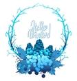 Winter frozen wreath vector image vector image