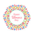 womens day march 8 multicolour floral wreath vector image vector image
