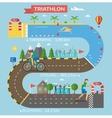Triathlon race infographic vector image