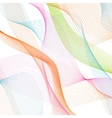 Abstract waves pattern on white background vector image
