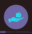 hand holding a purse sign symbol icon purse and vector image