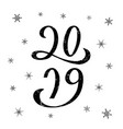 2019 for calendar typography poster flyer banner vector image vector image
