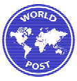 abstract world post rubber stamp vector image