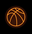 basketball orange silhouette vector image vector image