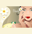 beauty spa flyer vector image