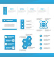 Blue Multipurpose Website templates infographic