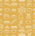 Bread and bakery products seamless pattern Bakery vector image vector image