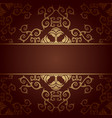 brown background baroque with flowers vector image
