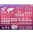 Business big infographic elements chart set on vector image vector image