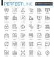 business essential thin line web icons set vector image