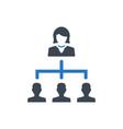 business hierarchy icon vector image vector image