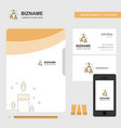 candles business logo file cover visiting card vector image vector image