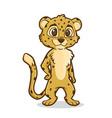 cartoon cheetah vector image vector image