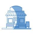 cartoon marketing store board facade vector image vector image