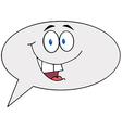 Cartoon Speech Bubble Character Speak vector image vector image