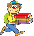 Cartoon Teddy Bear Student vector image vector image