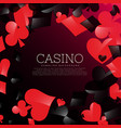 casino background with playing cards symbols vector image vector image