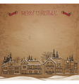 Christmas landscape European Houses in the winter vector image
