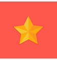 Christmas Yellow Star Flat Icon vector image