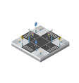 city street intersection isometric vector image