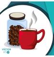 Coffee icon design vector image vector image