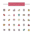 Colored Shopping Line Icons vector image vector image