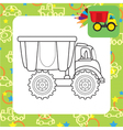 Colorful dump truck toy for coloring vector image vector image