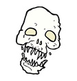 Comic cartoon scary skull