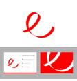creative e letter logo design icon vector image vector image