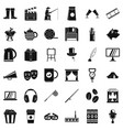 culture icons set simple style vector image vector image