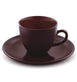 Cup of coffee isolated vector image vector image