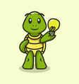 cute turtle mascot vector image vector image