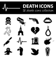 death icons vector image vector image