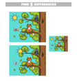 find differences fox and crow vector image vector image