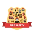 Fire Concept Flat vector image vector image