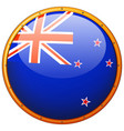flag of new zealand in round frame vector image vector image