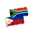 flags philippines and republic south africa vector image vector image