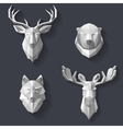 forest animals on wall vector image