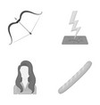 hairdresser history achievement icons in set vector image vector image