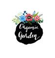 Hand drawn cute floral logo template