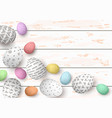 happy easter congratulatory easter white shabby vector image vector image